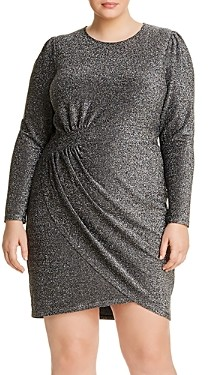 MICHAEL Michael Kors Metallic Crossover Dress