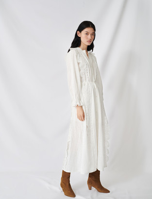 Maje Cotton dress with broderie anglaise