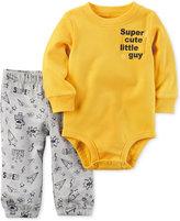 Carter's 2-Pc. Super Cute Little Guy Cotton Bodysuit & Pants Set, Baby Boys (0-24 months)