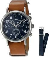 Timex Men's TWG012800QM Weekender Slip-Thru Wrist Watch