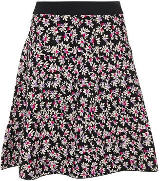 Diane von Furstenberg Fluted Jacquard-knit Mini Skirt