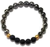 Satya Pyrite and Black Onyx Stretch Bracelet
