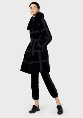 Giorgio Armani Velvet Coat Padded With Cashmere Flakes