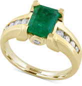 Effy Final Call Emerald (1-3/8 ct. t.w.) and Diamond (1/4 ct. t.w.) Ring in 14k Gold