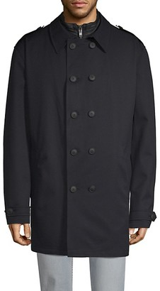 Bugatti 2-in-1 Quilted Jacket Double-Breasted Coat