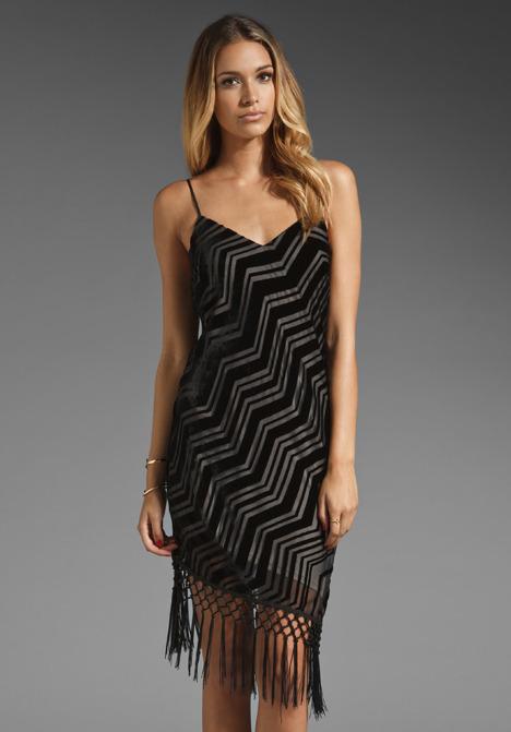 Akiko Sheer Print Fringe Dress