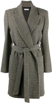 P.A.R.O.S.H. Tie-Waist Houndstooth Coat