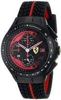 Ferrari Men's 0830077 Race Day Chronograph Black Rubber Strap Watch