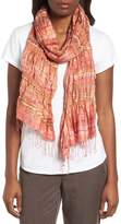 Eileen Fisher Puckered Silk Blend Scarf