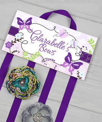 Toad And Lily Toad and Lily Hair Bows purple, - Butterfly Personalized Hair Bow Holder