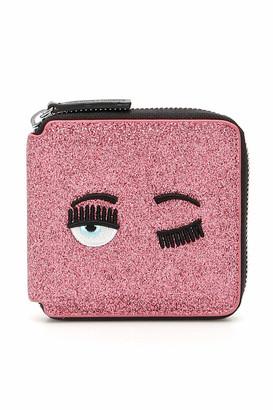 Chiara Ferragni Flirting Glitter Ziparound Wallet