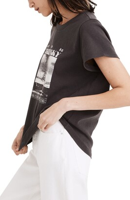 Madewell Let Us Be the Sky Graphic Shrunken Shirttail Tee
