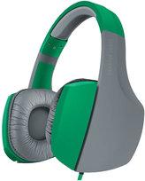 Sharper Image Green/Grey Bass-Boosting Stereo Headphones