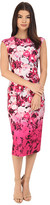 Vince Camuto Printed Scuba Extended Cap Sleeve Bodycon Dress