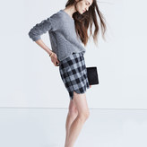 Madewell Shirttail Skirt in Plaid