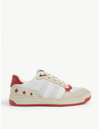 Sandro Leather star motif trainers