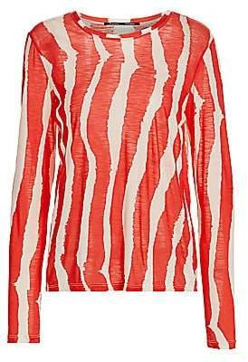 Proenza Schouler Women's Zebra Stripe Long Sleeve T-Shirt