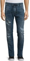 Diesel Krooley 0675 Distressed Jogger Jeans, Denim