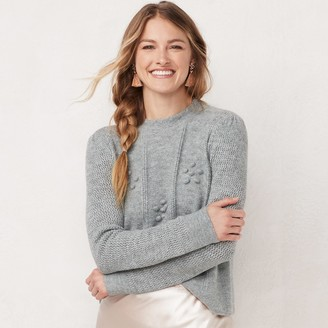 Lauren Conrad Women's Mixed Knit Crewneck Sweater