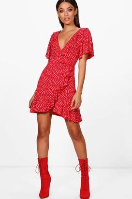 boohoo Ditsy Heart Tea Dress