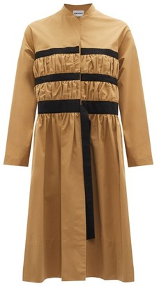 Molly Goddard Louis Single-breasted Gathered Cotton Coat - Camel