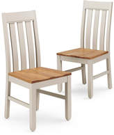 Marks and Spencer 2 Padstow Slat-Back Dining Chairs