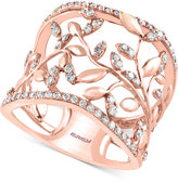 Effy Pavé Rose By Diamond Vine Band (1/2 ct. t.w.) 14k Rose Gold