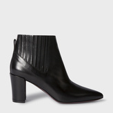 Paul Smith Women's Black Calf Leather 'Ladbroke' Ankle Boots