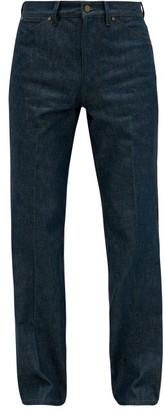 Lemaire High-rise Single-pleat Denim Jeans - Mens - Blue Multi