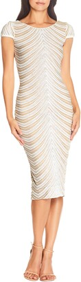 Dress the Population Marcella Sequin Stripe Cocktail Sheath Dress
