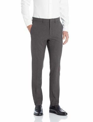 Kenneth Cole Reaction Men's 4-Way Stretch Solid Gab Slim Fit Dress Pant