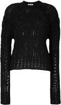 McQ by Alexander McQueen knitted cable jumper - women - Polyamide/Mohair/Wool - XS