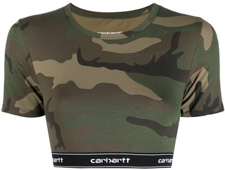 Carhartt Work In Progress Camouflage Print Cropped Top
