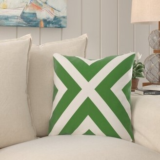 """Beachcrest Home Greater Northdale Outdoor Square Pillow Cover & Insert Color: Leaf Green, Size: 18"""" H x 18"""" W"""