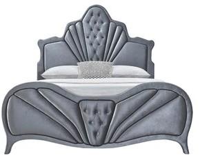 Rosdorf Park Vidrine Sleigh Bed Size: Queen, Color: Gray Velvet