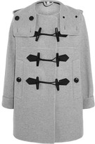 Burberry Wool And Cashmere-blend Duffle Coat - Light gray