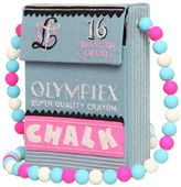 Olympia Le-Tan Chalk Box Hand Embroidered Shoulder Bag