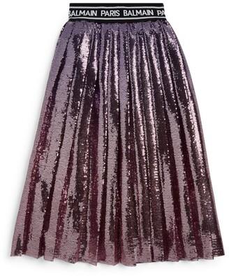 Balmain Kids Pleated Sequin Skirt (8-16 Years)