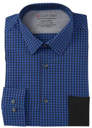 Calvin Klein Extra Slim Fit Stretch Check Dress Shirt