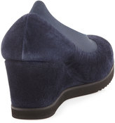 Andre Assous Blair Suede Wedge, Navy