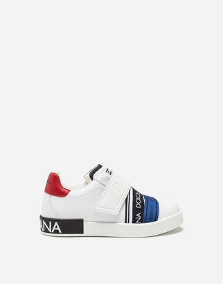 Dolce & Gabbana Portofino Sneakers With Branded Ribbon