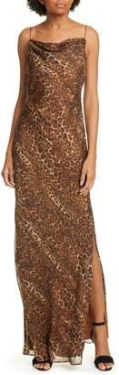 CAMI NYC The Carla Leopard Print Silk Maxi Dress