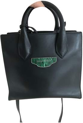 Balenciaga All Afternoon Green Leather Handbags
