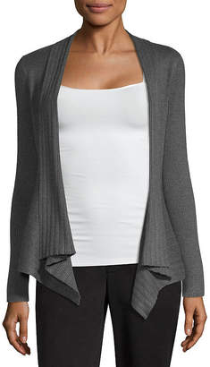 Liz Claiborne Open Cardigan 2019 Womens Long Sleeve Open Front Cardigan