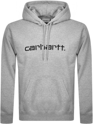 Carhartt Logo Hoodie Grey