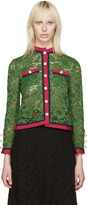 Gucci Green Lace Ribbon Jacket