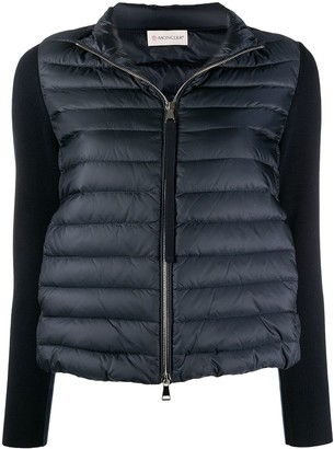 Moncler Contrast Sleeves Padded Jacket