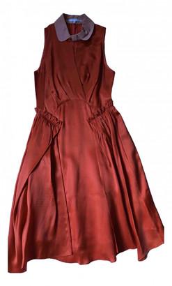 Carven Orange Silk Dresses