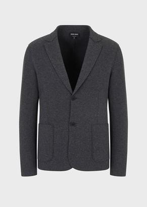 Giorgio Armani Unlined, Single-Breasted Jacket