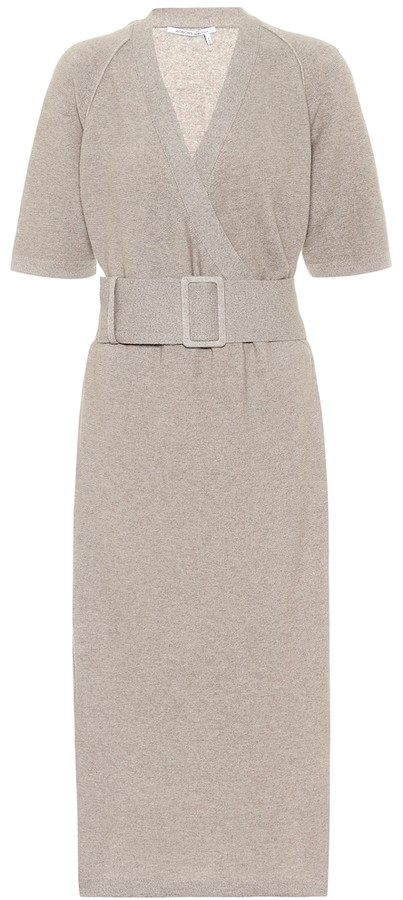 Agnona Cashmere and cotton-blend knit dress